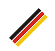 German Flag Style Steering Wheel Car Sticker