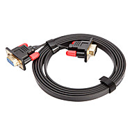 CYK CV05-003 1M 3.28FT VGA 15 Pin Male to VGA 15 Pin Female Computer Connection Cables