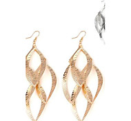 Women's Hollowed Leaf-Shaped Alloy Earrings(1Pair)