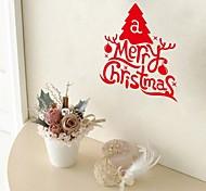 zooyoo® natal com a arte da palavra de adesivos de parede decalques bonitos coloridos PVC removível quentes parede de venda para a