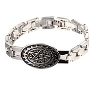 Punk Style Magic Star Silver Leather Bracelet(1 Pc)