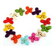 perlas de las mujeres de moda en forma de mariposa de color turquesa sueltos de color mixto (1 juego)