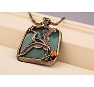Fashion Korea Vintage Stork Alloy Necklace for Women in Jewelry Gift