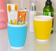 Multifunctional Lovely Candy Colored Toothbrush Cup (Random Color)