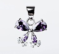 I FREE®S925 Sterling Silver Butterfly Shape Inlaid Zircon Pendant (1 pc)