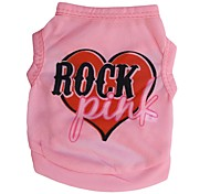 Lovely PINK ROCK Pattern Terylene Vest for Dogs (Pink XS-L)