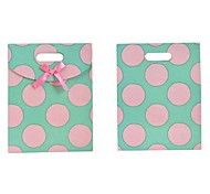 Lureme Fashion Dot PatternBowknot Gift Bag(1Pc)