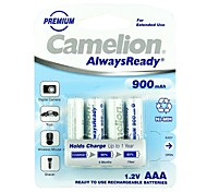 Camelion AlwaysReady 900mAh Low Self-discharge Ni-MH AAA Rechargeable Battery (4pcs)