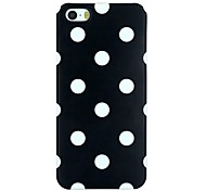 The White Dot on Black Pattern PC Material Back Cover  Hard Case for iPhone 5/5S
