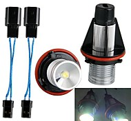 A Pair Car Kit Angel Eyes LED Marker Halo Lamp White  Lights 3W 12V for BMW 1567 E39 E65 E87 X3 X5 Series