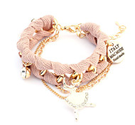 European Style Fabric Dancing Girl Charm Bracelet