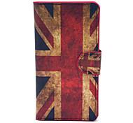Modelo retro de la bandera del Reino Unido de la PU de plástico duro caso para Huawei G6