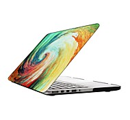 Water Colorful Vortex Design Full-Body Protective Plastic Case for 13-inch/15-inch MacBook-Pro with Retina Display
