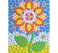 EVA Mosaic Crystal 3D Stickers Children Hand DIY Puzzle Flower Toy