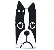 Black Dog Pattern Soft Case for Huawei G6
