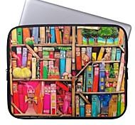 """elonbo Bohemien schöne Bücherregal 15 """"Notebook Neopren Schutzhülle für MacBook Pro Retina dell hp acer"""