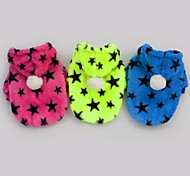Stars Pattern Soft Clothes With Hoodie For Dogs Pets(Assorted Sizes,Colors)