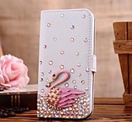 Diamanten Schwan PU-Leder Ganzkörper-Case mit Ständer und Card Slot für iphone 5c (verschiedene Farben)