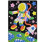 eva cristallo mosaico 3D adesivi bambini puzzle di mano fai da te astronauta giocattolo