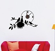 ZOOYOO® cute flower and bird Electronic battery timekeeper clock wall sticker home decor for you living room