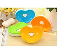 Novel Love shape Lovely Soap Dish (Random Color)