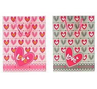 Lureme Loveing Heart Pattern Gift Bag(Gray,Pink)(1Pc)