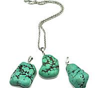Vintage argento antico irregolare turchese della collana Toonykelly ® (Verde) (1 Pc)