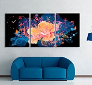 Blooming Flower Clock in Canvas 3pcs