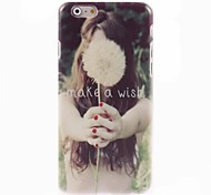 Make a Wish Letter Design Hard Case for iPhone 6 Plus