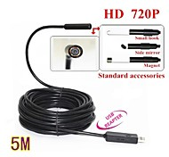 5M Mini USB HD 720P Endoscope Borescope Snake 10mm Lens 4 LED IP67 Waterproof Inspection Camera Borescope
