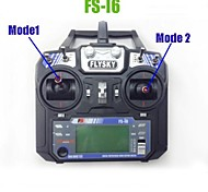 2014 New Version FS FlySky FS-i6 2.4G 6ch Transmitter and Receiver System LCD Screen