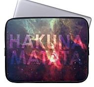 "Elonbo Hakuna Matata 15"" Laptop Neoprene Protective Sleeve Case for Macbook Pro Retina Dell HP Acer"