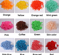 BaoGuang®600PCS Rainbow Color Loom Fashion Loom Rubber Band(1Package S Clip,Assorted Colors)