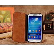 allspark® nobuck retro estilo de la carpeta del cuero genuino caso de cuerpo completo para Samsung Galaxy S3 i9300