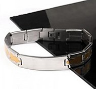 Men's Fashion Personality Titanium Steel Golden Gourd Splicing Bracelets