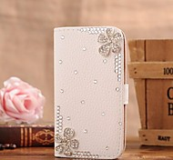 diamant bloemen pu leer full body case met standaard en de kaartgleuf voor Samsung Galaxy Note 2 n7100