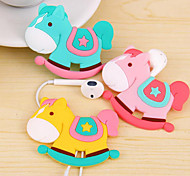 Wooden Horse Cartoon Earphone Cable Wire Cord Organizer Cable Winder