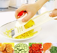 Multifunction Vegetable Fruit Cutter Slicer 1 Set Plastic 24.5x9x2cm