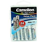 Camelion Digi Alkaline AAA Battery in Container Box of 24 PCS