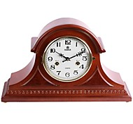 "POWER™ 12""H Upscale Style Solid Wood Border Super Mute Tabletop Clock"