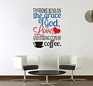 JiuBai® Coffee Quote Wall Sticker Wall Decal