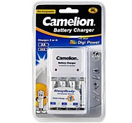 Camelion Charger for AA/AAA Battery with 4 pcs AlwaysReady 900mAh Ni-MH AAA Rechargeable Batteries