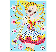 EVA Mosaic Crystal 3D Stickers Children Hand DIY Puzzle Dress Beauty Toy