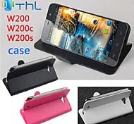 Mode Leder Flip Tasche Hülle für thl w200 / w200c / w200s links nach rechts Smartphone 3-Farben