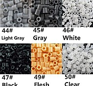 circa 500pcs / sacchetto di 5 millimetri perline fusibile hama beads diy materiale puzzle eva safty per bambini (6 colori assortiti, B44-B50)