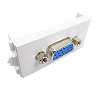 LONGYIN LY-093 86 Model VGA Module Sockets Wall Plate - White