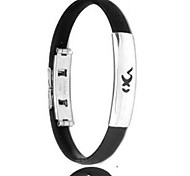 Men's Fashion Personality Titanium Steel Silicone Twelve Constellation Capricorn Bracelets