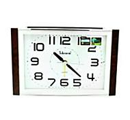 Telesonic™ Square Shape Night-light Snooze Imitation Wood Grain Coating Taxiing Super Mute Alarm Clock