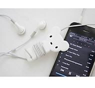 branco cartoon fio de cabo do fone de ouvido cabo organizador cabo enrolador