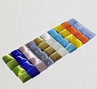 Z&X®  12MM 50 PCS DIY Candy Color Opals Square Flatback(Random Color)